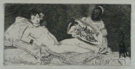 Grabado Manet -  L`Olympia