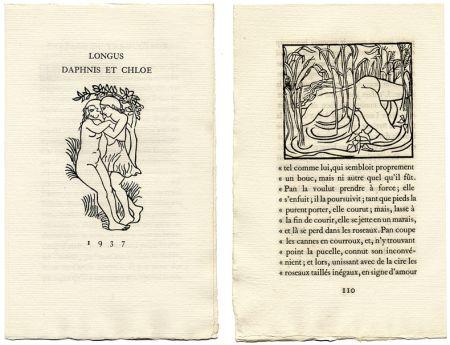 Libro Ilustrado Maillol - Longus : LES PASTORALES DE LONGUS OU DAPHNIS ET CHLOÉ. Bois originaux d'Aristide Maillol (Gonin, 1937)
