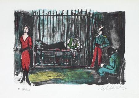 Litografía Blatas - L'opera Des Gueux the Beggers Opera plate no. IV