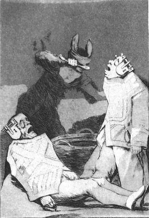 Aguafuerte Y Aguatinta Goya - Los chinchillas