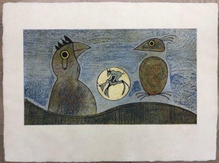 Aguafuerte Ernst - Los Pájaros