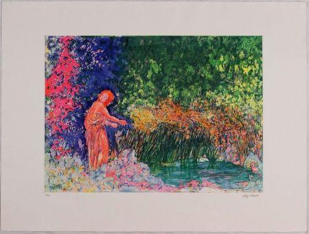 Aguafuerte Y Aguatinta Sassu - Los papiros del estanque