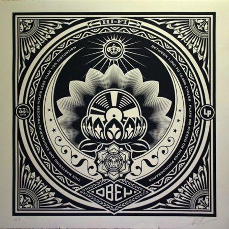 Serigrafía Fairey - Lotus Album, Large Format