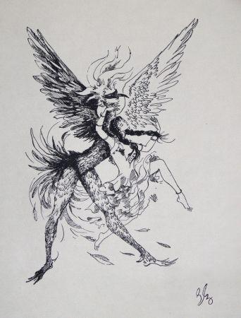 Grabado Bonabel - Louis-Ferdinand Céline - Gravure Originale