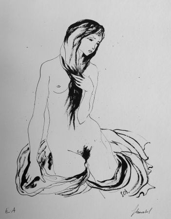 Litografía Bonabel - Louis-Ferdinand Céline - LA DANSEUSE NUE / THE NUDE DANCER  - 1944