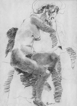 Litografía Bonabel - Louis-Ferdinand Céline - Litographie Originale / Original Lithograph - Autoportrait/Self-portrait - 1958