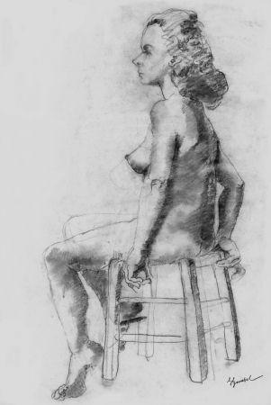 Litografía Bonabel - Louis-Ferdinand Céline - Litographie Originale / Original Lithograph - Nu Feminin / Female Nude - 1938