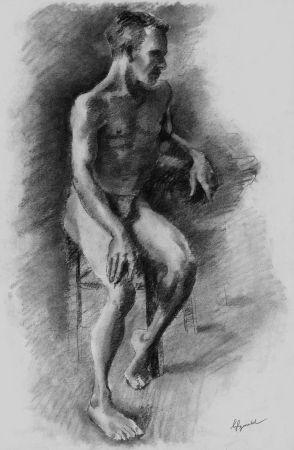 Litografía Bonabel - Louis-Ferdinand Céline - Litographie Originale / Original Lithograph - Nu Masculin / Male Nude - 1938