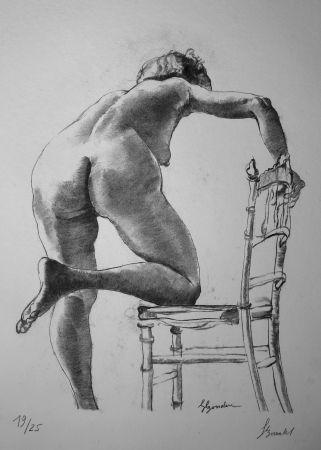 Litografía Bonabel - Louis-Ferdinand Céline - Nu Feminin / Female Nude - 1938