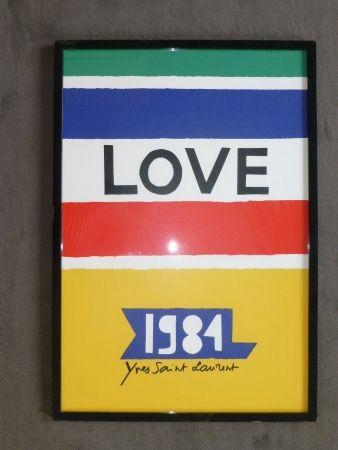 Cartel Saint Laurent - Love 1984