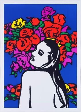 Litografía Pusenkoff - Love & flowers