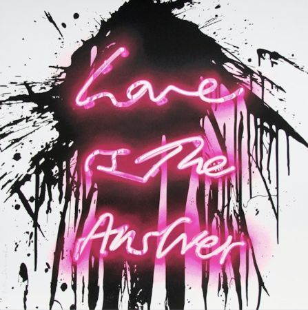 Serigrafía Mr Brainwash - Love is the answer