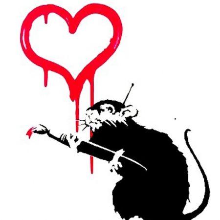 Serigrafía Banksy - Love Rat