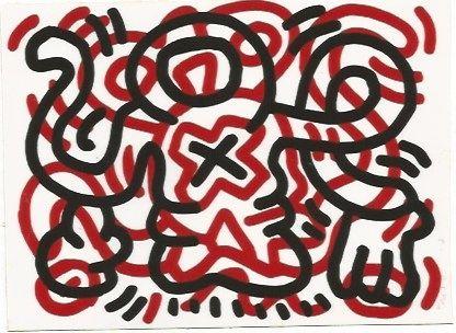 Litografía Haring - Ludo - 3