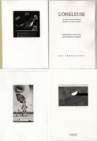 Libro Ilustrado Assadour - Luigi Mormino : L'OISELEUSE (L'UCCELLATRICE). Gravures d'Assadour, frontispice d'Avati