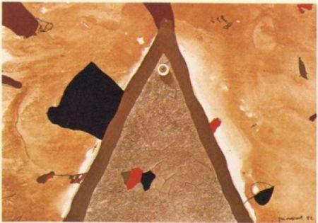 Litografía Guinovart - L'ull 1982