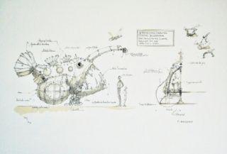 Litografía Delarozière - Luminaire des grands fonds
