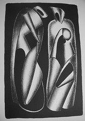 Litografía Archipenko - Luminositè des formes (Les formes vivantes)