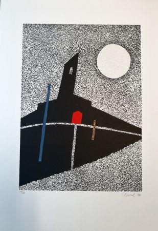 Grabado En Madera Spacal - Luna sul monastero