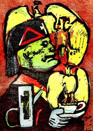 Libro Ilustrado Maccari - Lunch at Mussolini