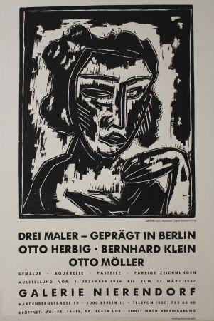 Grabado En Madera Klein - Mädchenkopf