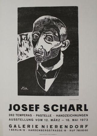 Grabado En Madera Scharl - Männerbildnis