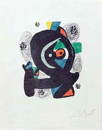 Litografía Miró - Mélodie acide