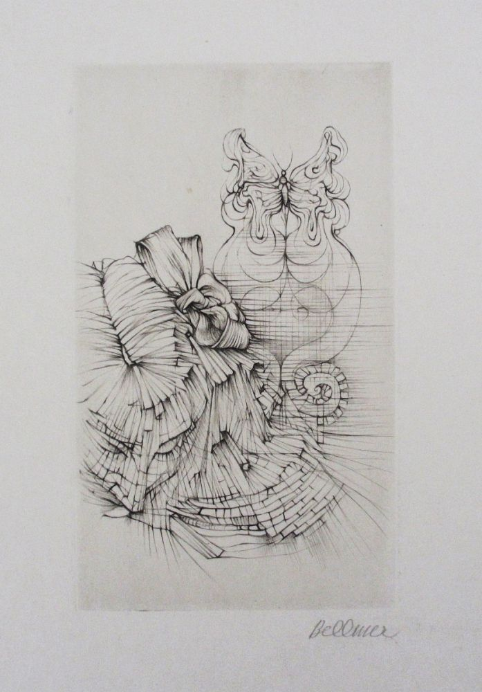 Aguafuerte Y Aguatinta Bellmer - Métamorphose (Papillon)