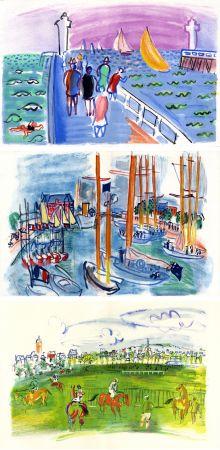 Libro Ilustrado Dufy - M. de Saint-Pierre : LES CÔTES NORMANDES. Lithographies de Raoul Dufy (1961)