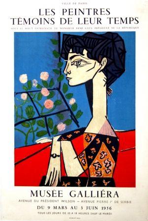 Cartel Picasso -  M  Jacqueline  Exposition les Peintres  Témoins de leur Temps  Musée Galiera