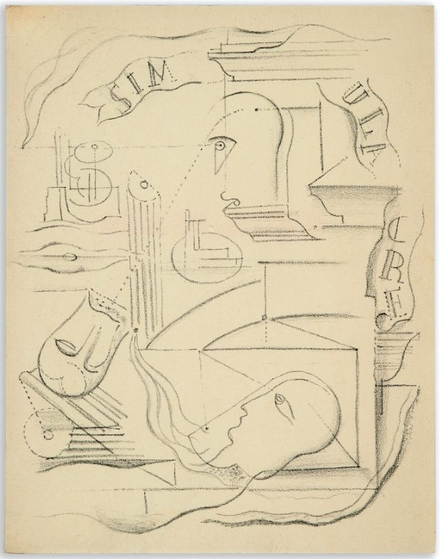 Libro Ilustrado Masson - M. Leiris & A. Masson : SIMULACRE. Poèmes et lithographies (1925)