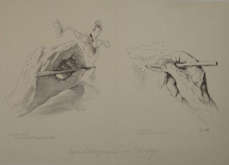 Litografía Kreidolf - M. linke Hand mit der rechten gezeichnet, m. rechte Hand mit der linken gezeichnet.