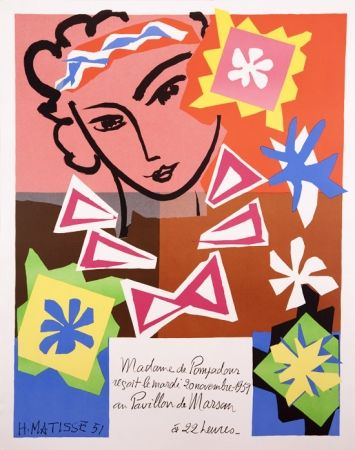 Litografía Matisse - Madame de Pompadour