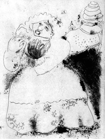 Aguafuerte Chagall - Madame Korobotchka
