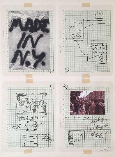 Litografía Muntadas - Made in N.Y.
