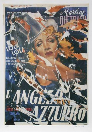 Serigrafía Rotella - Made to Order Love (Marlene Dietrich)