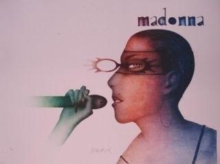 Litografía Wunderlich - Madonna