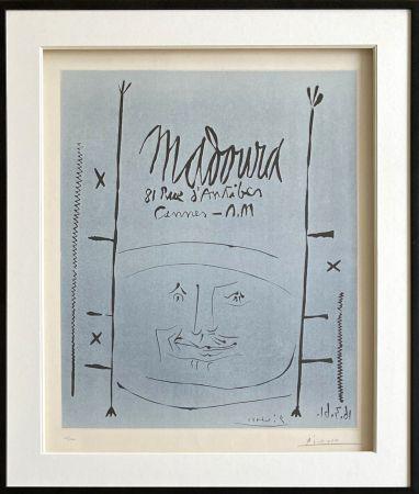 Linograbado Picasso - Madoura 1961