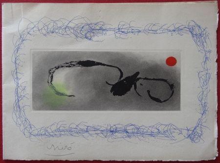Grabado Miró - Maeght Voeux 1963