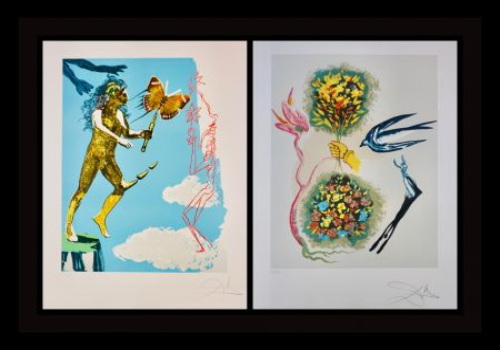 Litografía Dali - Magic Butterfly & The Dream suite