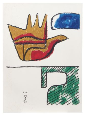 Litografía Le Corbusier - Main ouverte (hand-signed & numbered)
