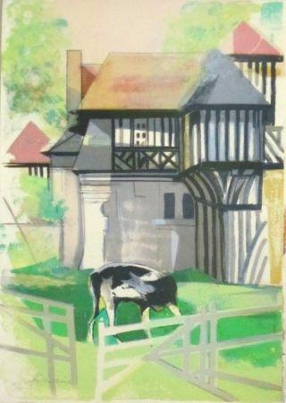 Litografía Hilaire - Maison a colombage