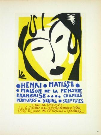 Litografía Matisse - Maison de la Pensée Française