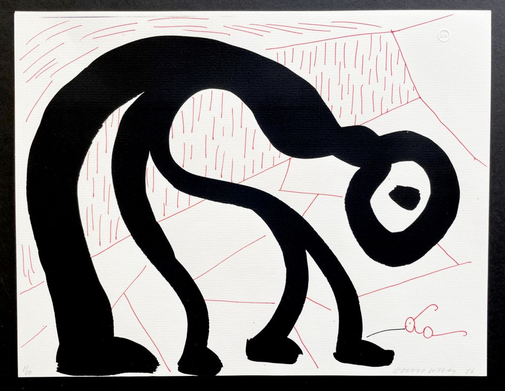 Sin Técnico Hockney - Man Looking for his glasses, April 1986
