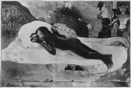 Litografía Gauguin - Manao Tupapau
