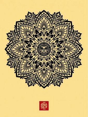 Serigrafía Fairey - Mandala Ornament 1 Cream