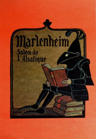 Litografía Ungerer - Manlenheim   Salon de L'Alsatique