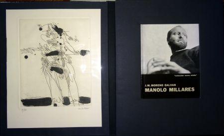 Libro Ilustrado Millares - Manolo Millares - Colección Nueva orbita - Incluye un aguafuerte - Firmado y numerado