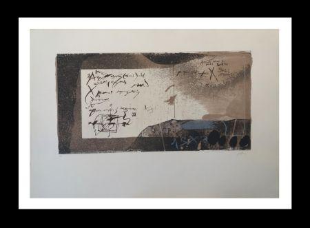 Aguafuerte Y Aguatinta Tàpies - Manuscrito