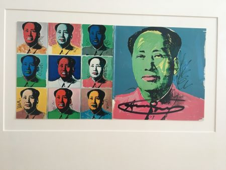 Litografía Warhol - Mao Announcement